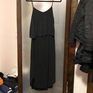 Charcoal Grey Mango Midi Dress size Small